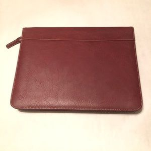 Franklin Covey Maroon Leather Planner